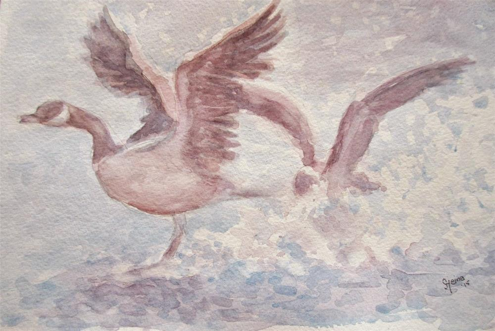 """Taking flight!"" original fine art by Steinunn Einarsdottir"