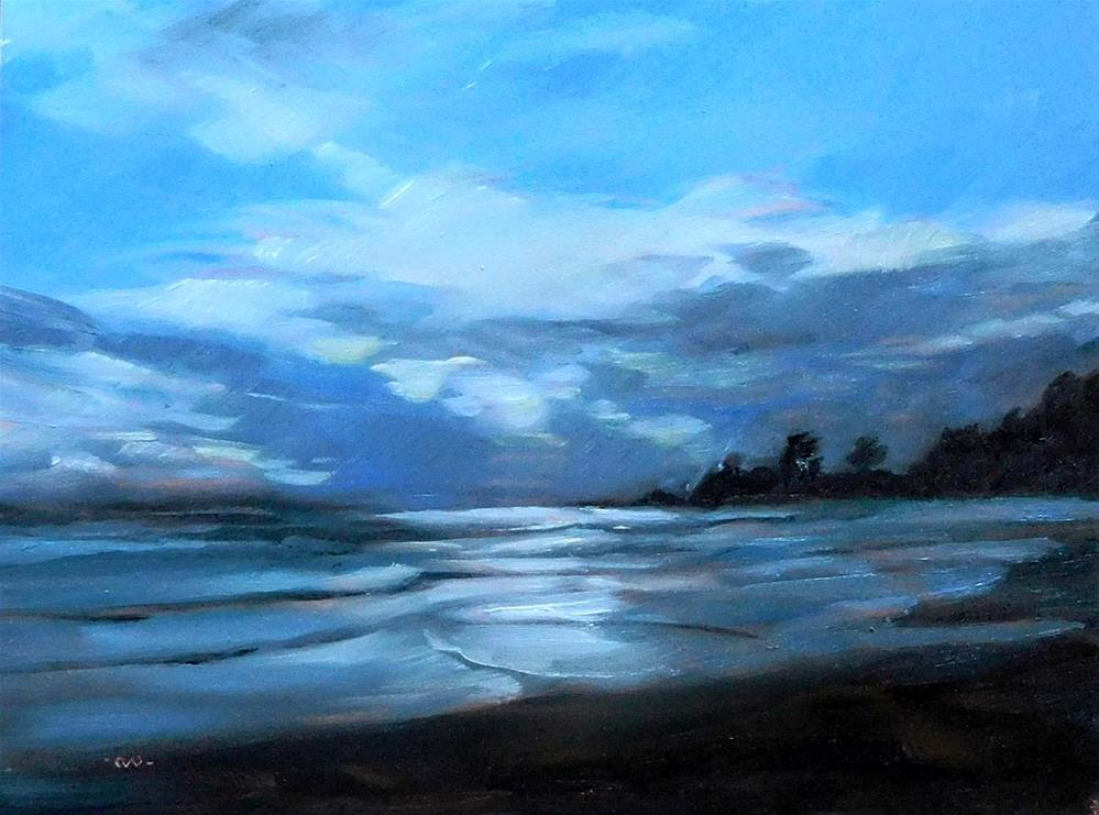 """Look For The Silver Lining"" original fine art by Cietha Wilson"