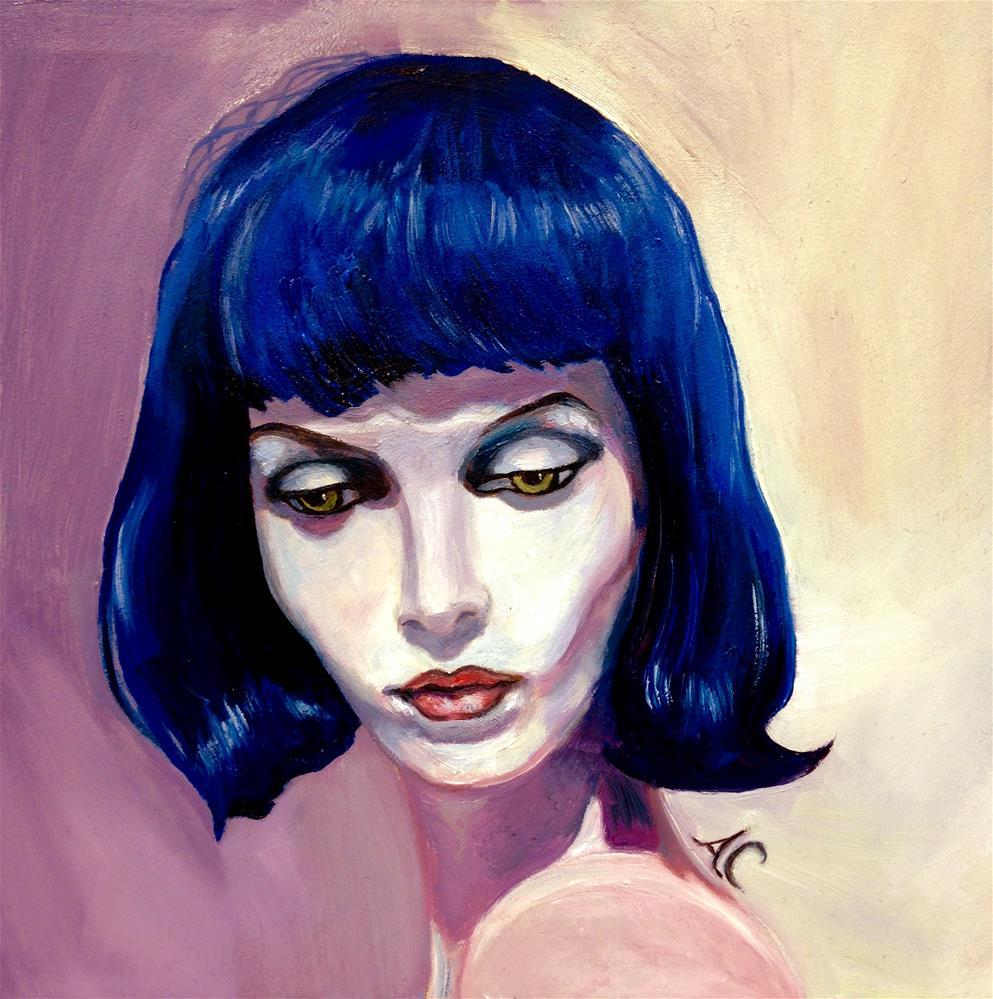 """Feeling Blue"" original fine art by Anna Castelli"