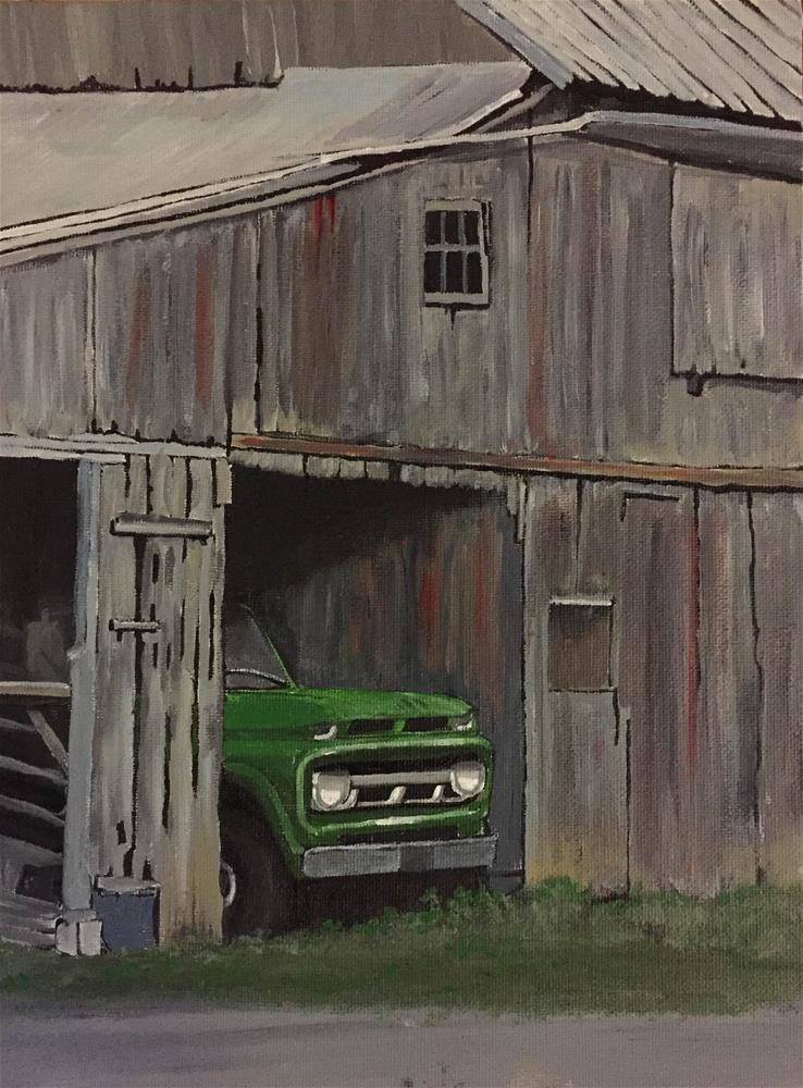 """Truck Stop"" original fine art by Helen Kuhn"