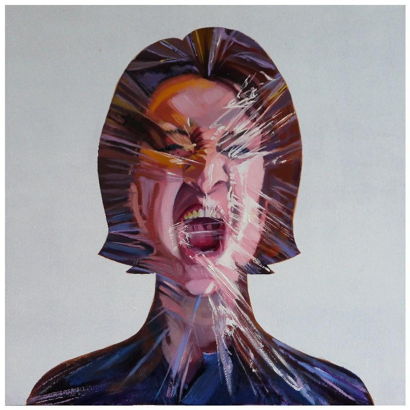 """facebook self-portrait"" original fine art by Beata Musial-Tomaszewska"
