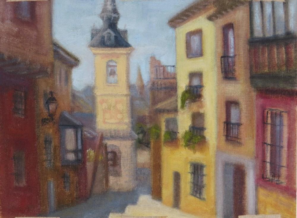 """""""Iglesia de San Justo"""" original fine art by Richard Kiehn"""