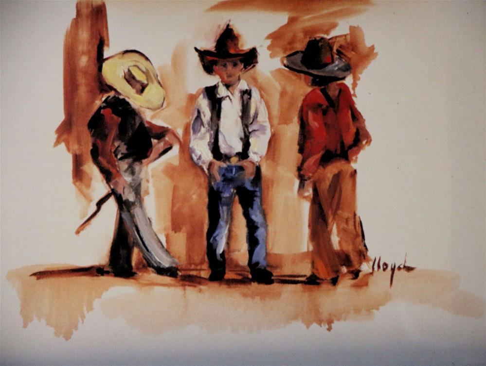 """Chattin' Time"" original fine art by Diane Lloyd"