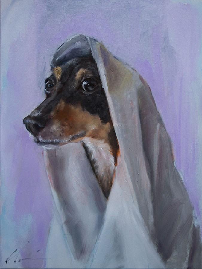 """Saint Frida"" original fine art by Clair Hartmann"