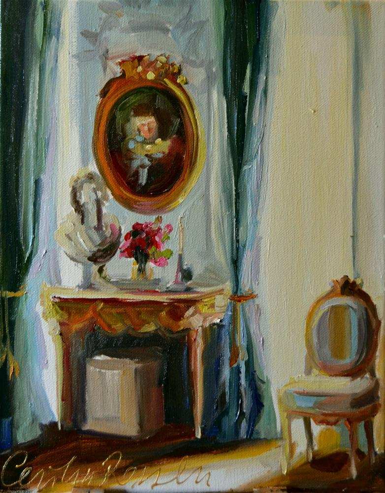 """FRENCH ROOM"" original fine art by Cecilia Rosslee"