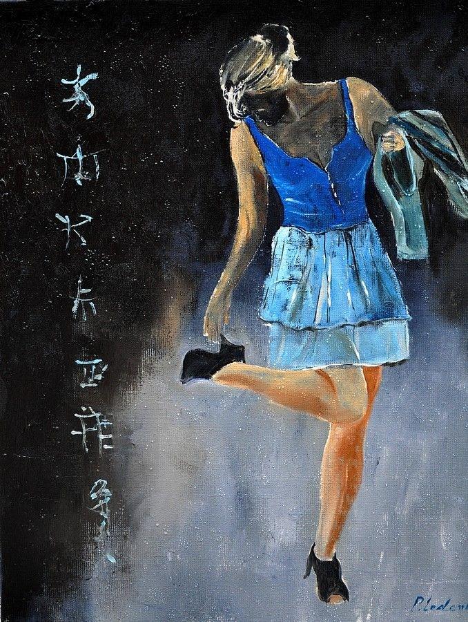 """""""ah ! these shoes"""" original fine art by Pol Ledent"""