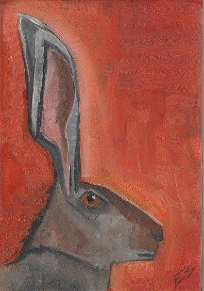 """Jack Rabbit"" original fine art by Elizabeth See"