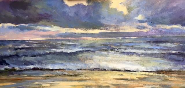 """""""Stormy Bay"""" original fine art by Cathy Boyd"""