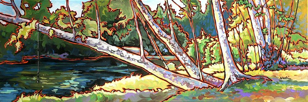 """#27 Redstone Swimming Hole"" original fine art by Nadi Spencer"