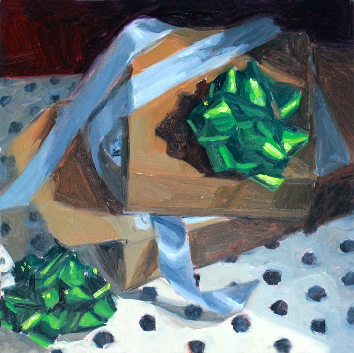 """Holiday Cheer: Boxes and Bows"" original fine art by Nealy May Riley"