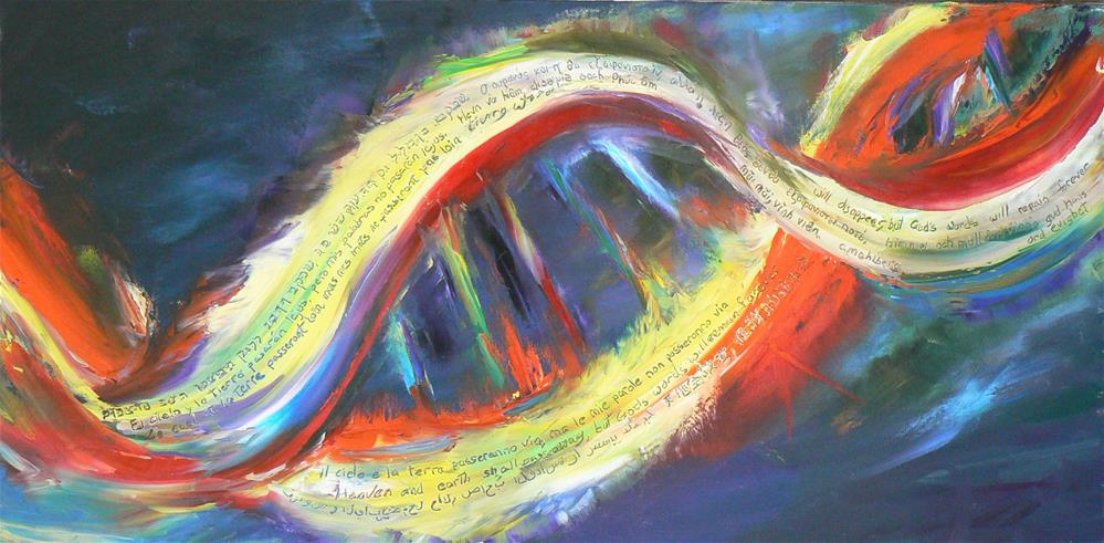 """My Word Will Never Fade Away"" original fine art by Cynthia Mahlberg"