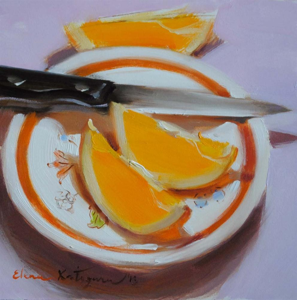"""Three Slices"" original fine art by Elena Katsyura"