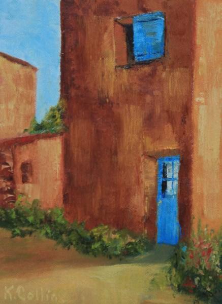 """""""Roussillon Maison"""" original fine art by Kathy Collins"""
