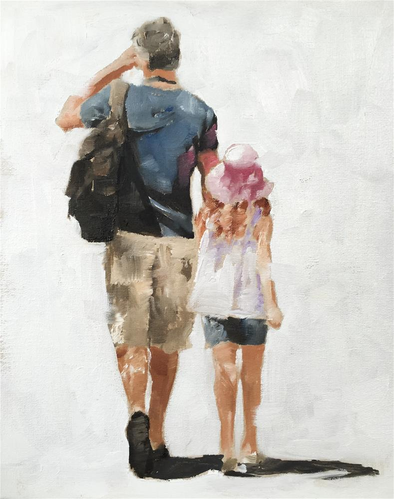 """Father and Daughter"" original fine art by James Coates"
