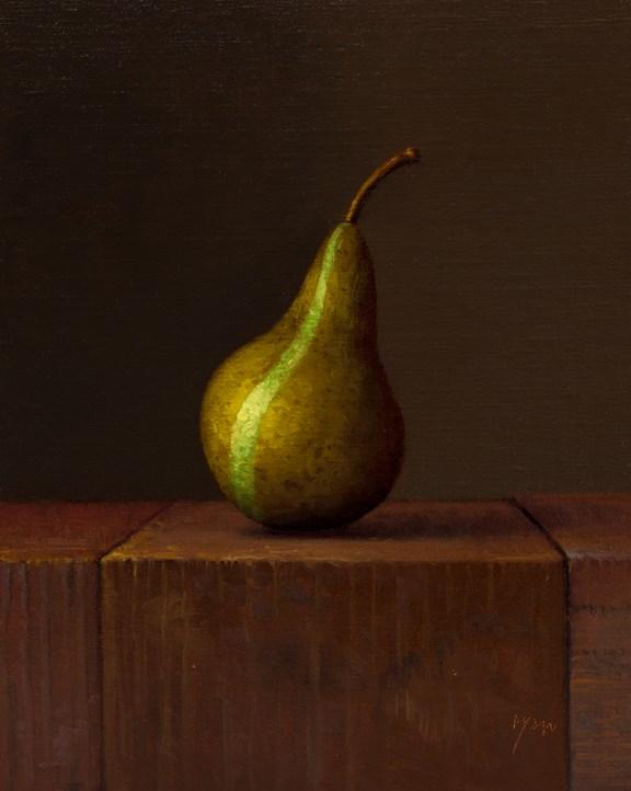 """""""Bosc Pear, The Green Stripe (La Raie Verte)"""" original fine art by Abbey Ryan"""