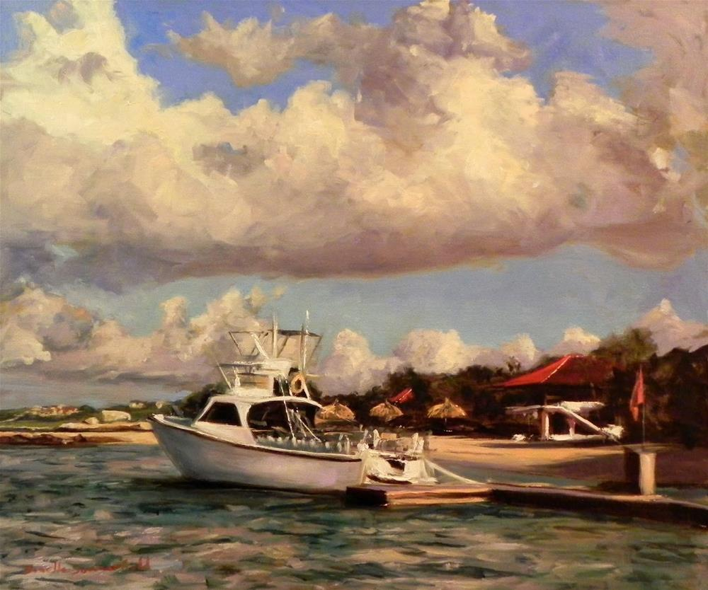 """Docked in Curacao"" original fine art by Jonelle Summerfield"