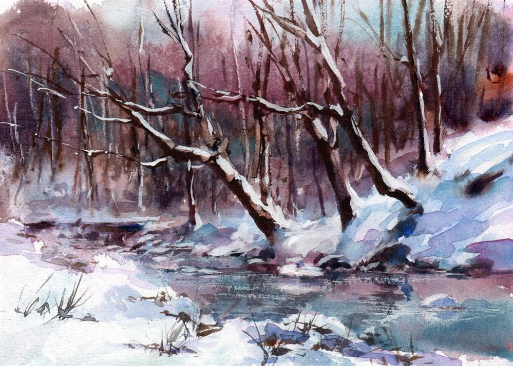 """Yesterday's Snow"" original fine art by Linda Henry"
