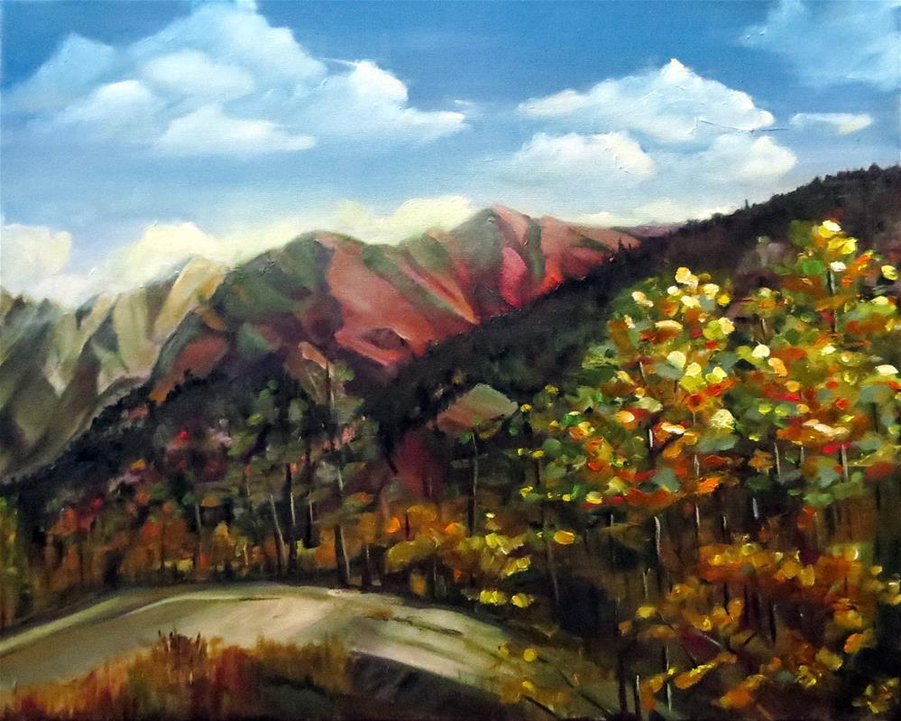 """Landscape with Mountains"" original fine art by Kulli Maslova"