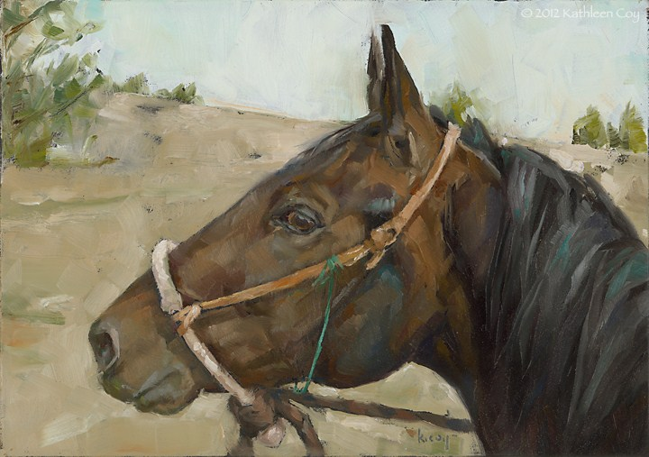 """The best view is always from the back of a good horse"" original fine art by Kathleen Coy"