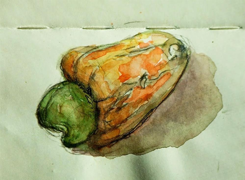 """""""Cashew 2"""" original fine art by Mitsuru Cope"""