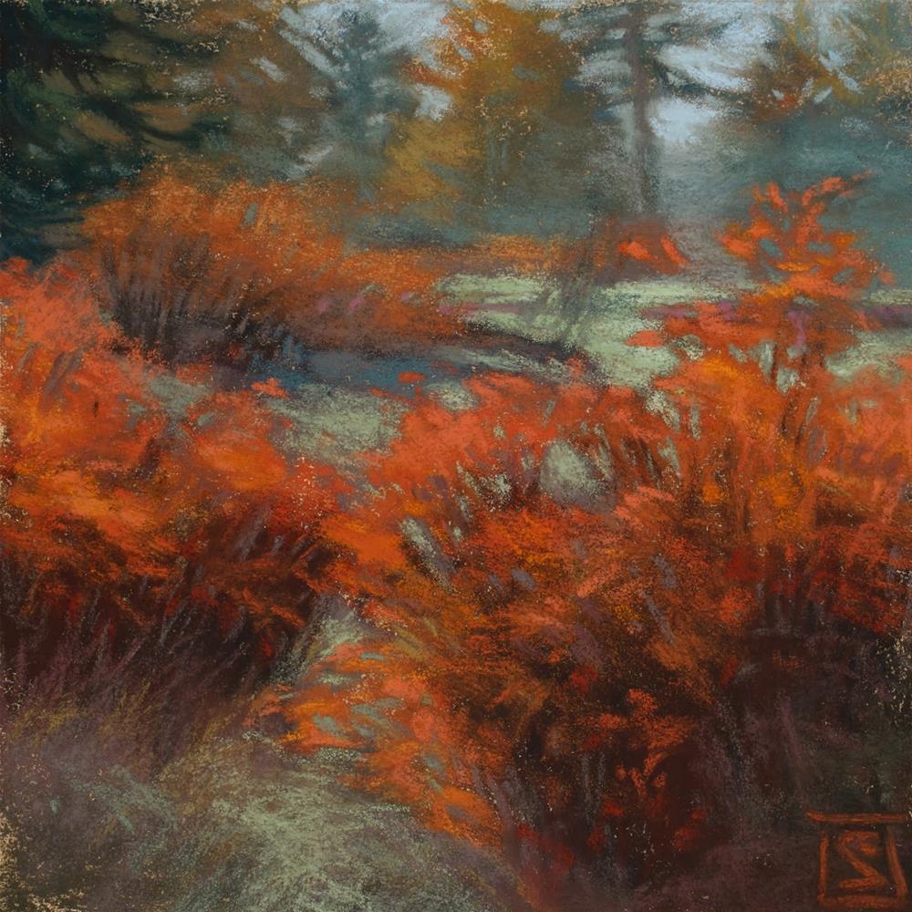 """Frost & Fog Study 3"" original fine art by Sheila Evans"