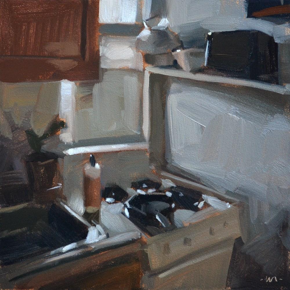 """""""Tiniest Kitchen"""" original fine art by Carol Marine"""