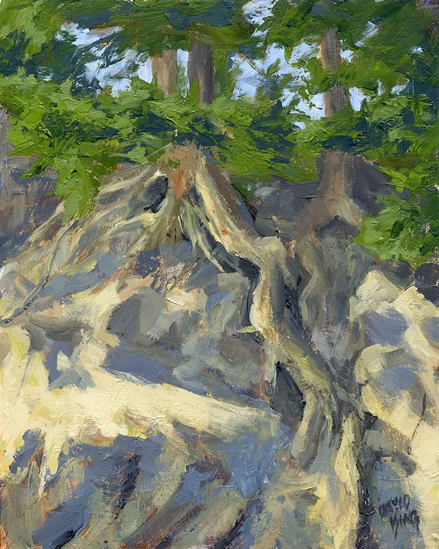 """Roots and Rocks"" original fine art by David King"