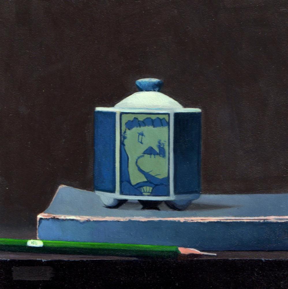 """Daily Diaper #274 Quiet Blue"" original fine art by Brian Burt"