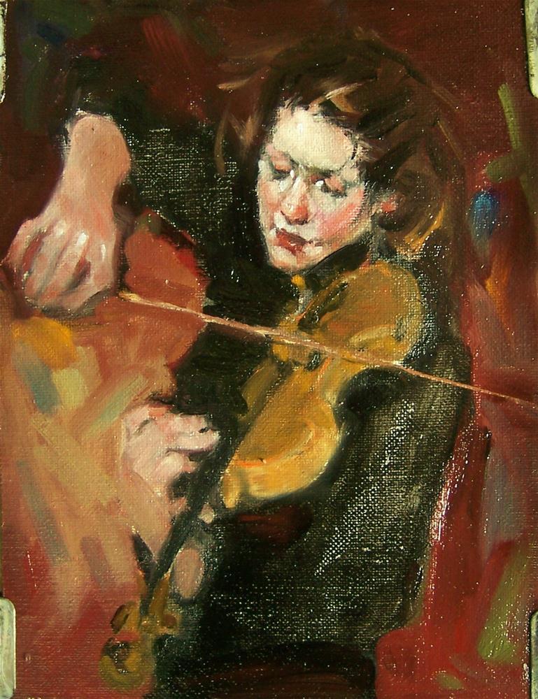 """Pulling Her Own Strings"" original fine art by Kim Roberti"