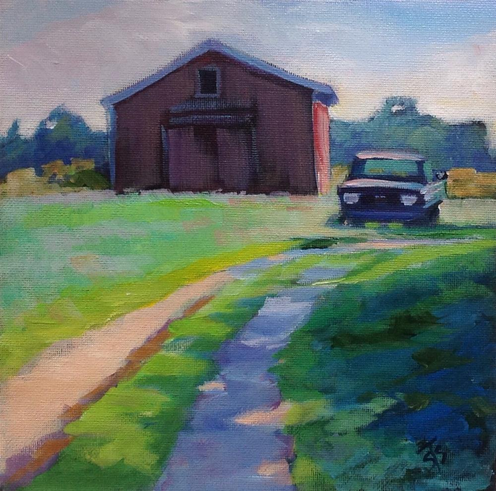 """Indiana Truck and Barn"" original fine art by Susan Suraci"