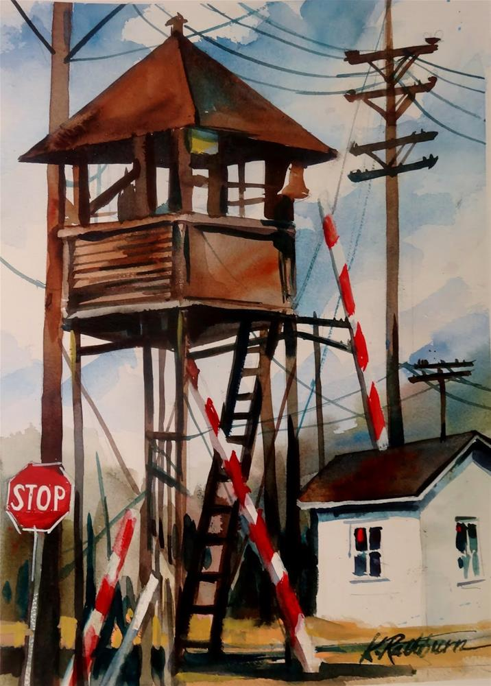 """Insights on Industry XIX"" original fine art by Kathy Los-Rathburn"