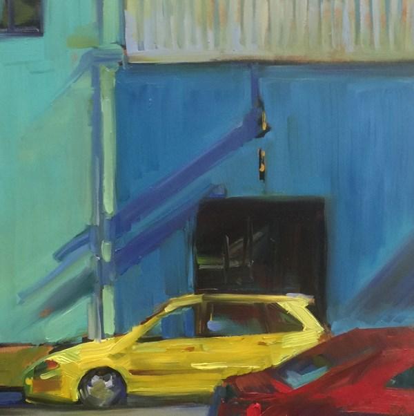 """""""Cityscape Color Wheel"""" original fine art by Patti McNutt"""