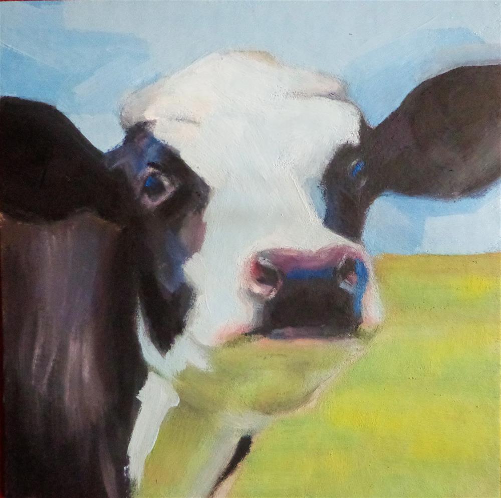 """Cow"" original fine art by Maria Z."