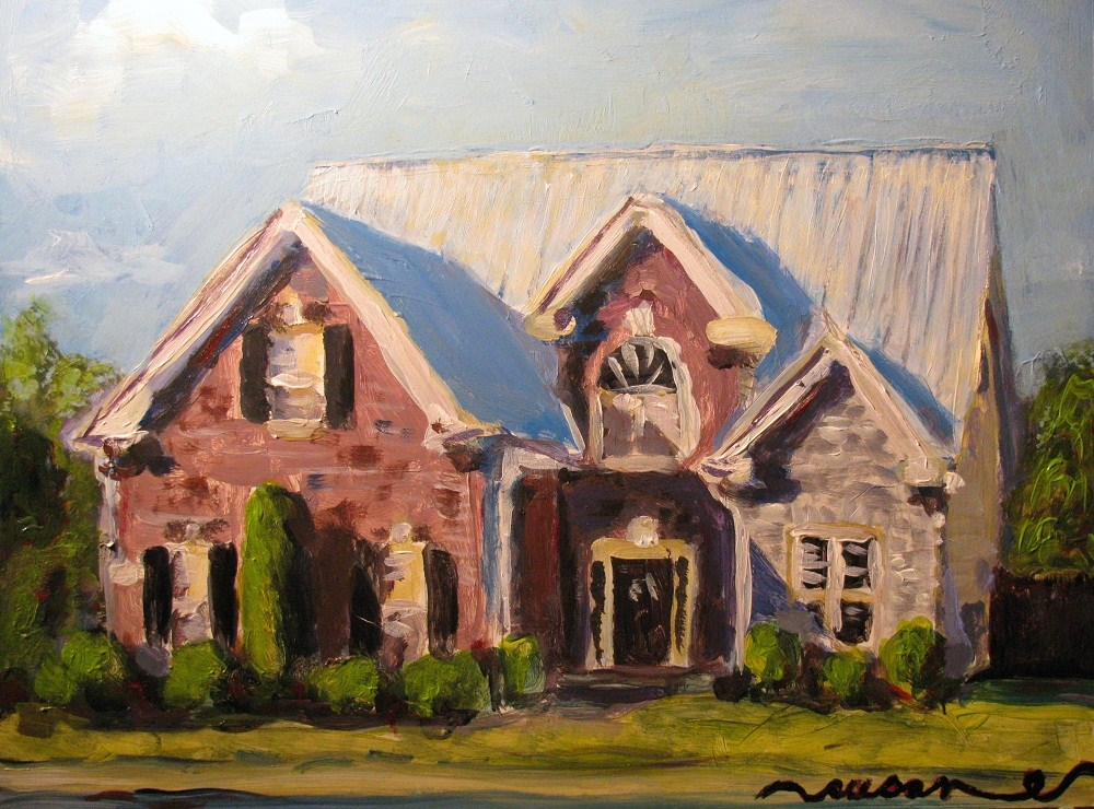 """3246 Bilbrey Drive"" original fine art by Susan Elizabeth Jones"