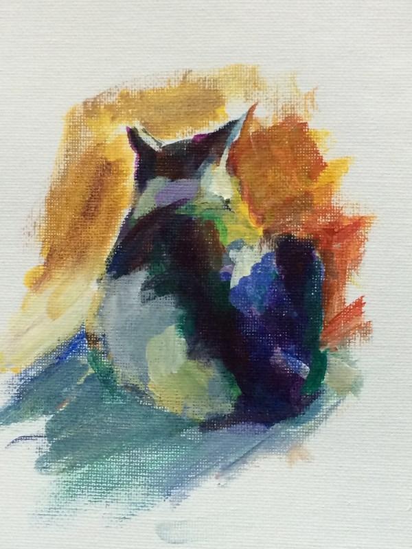 """Back View"" original fine art by Sharon Savitz"