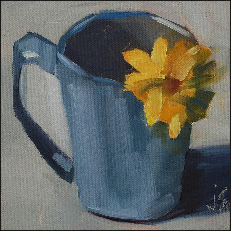 """""""Cup of Sunshine"""" original fine art by Johnna Schelling"""