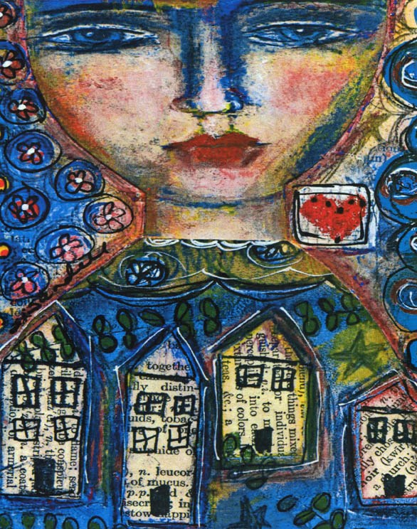 """Heart And Home"" original fine art by Sonja Sandell"