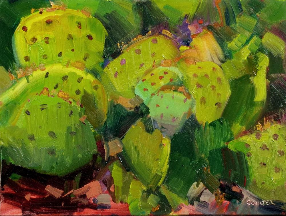 """SHADES OF PRICKLY PEAR"" original fine art by James Coulter"