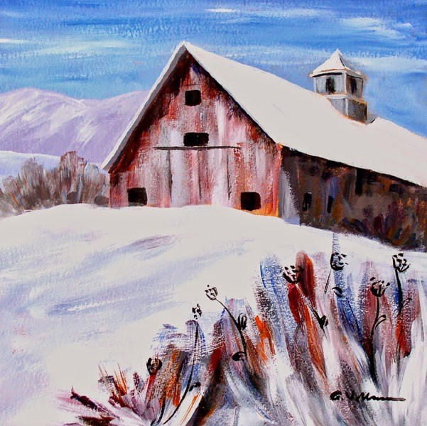 """Barn #9"" original fine art by Anna Vreman"