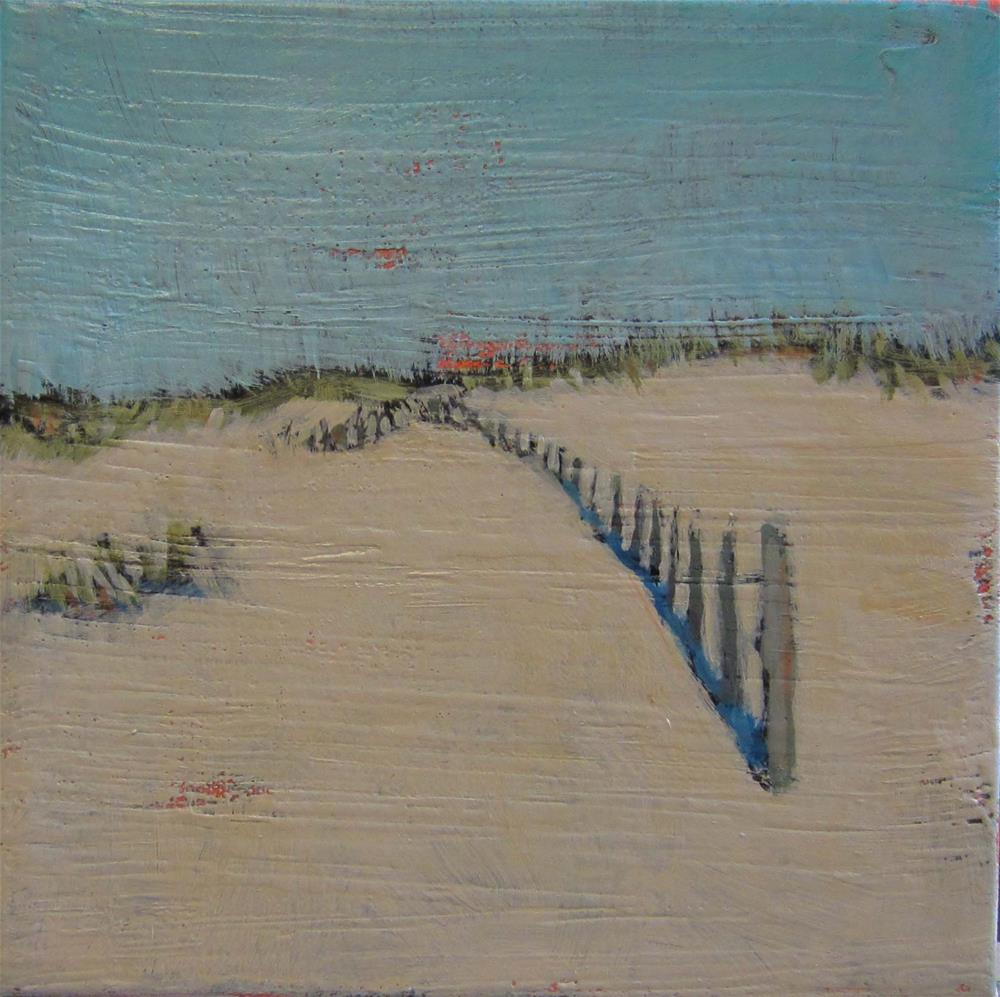 """Up and Around Fence"" original fine art by Kristina Davidson"
