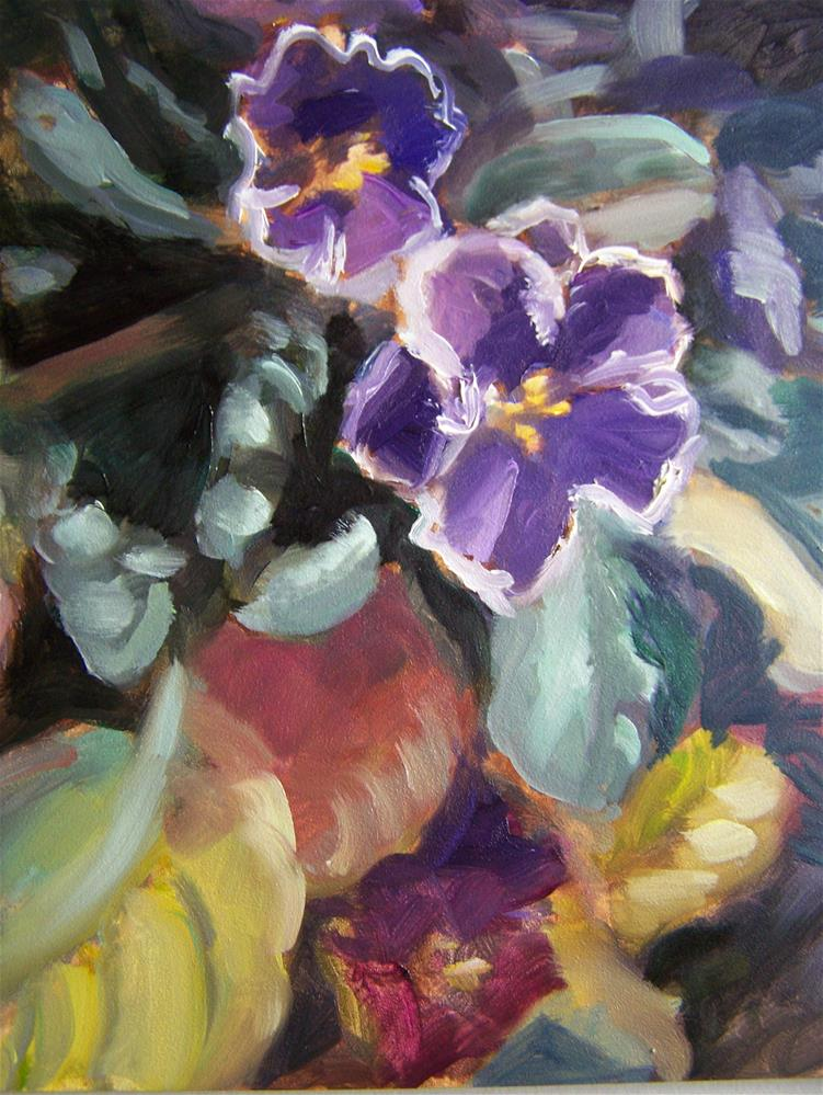 """Violets #2"" original fine art by Joan Reive"