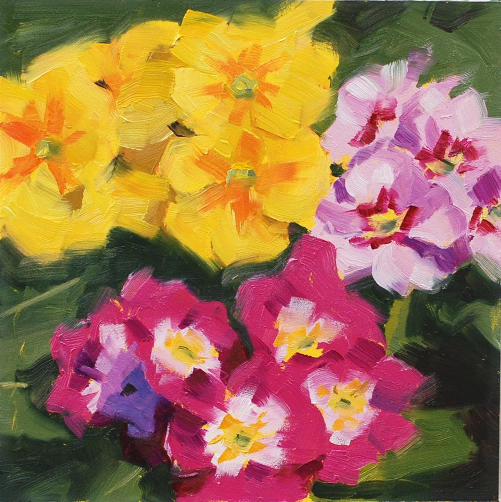 """Primrose #2"" original fine art by Susan McManamen"