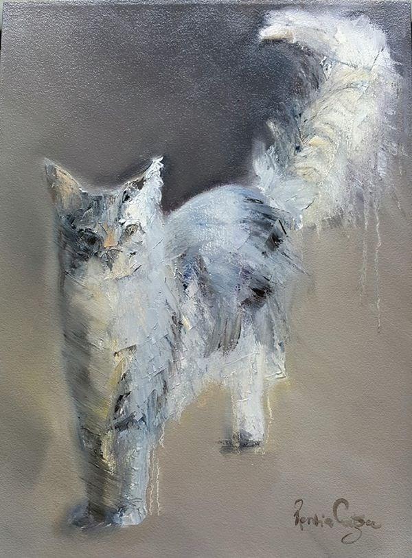 """Miaauw"" original fine art by Rentia Coetzee"