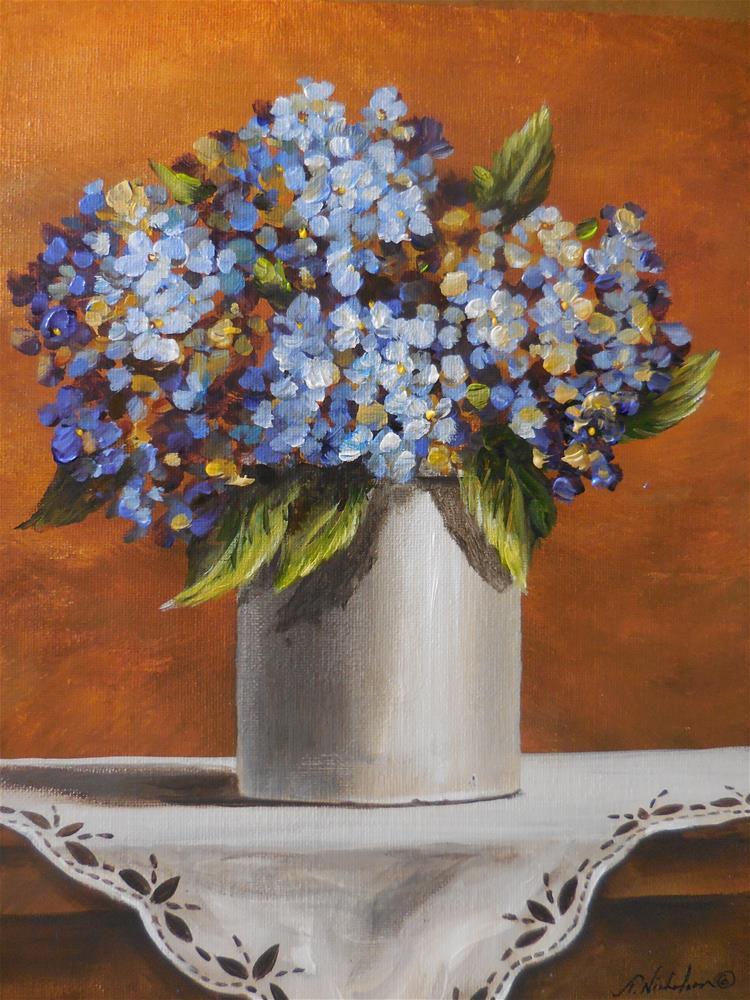 """Hydrangea"" original fine art by Terri Nicholson"
