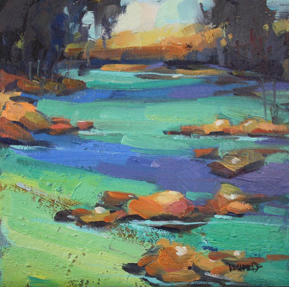 """River Study for Glacial Flour"" original fine art by Cathleen Rehfeld"