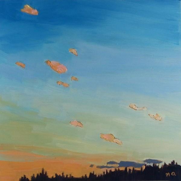 """Citrus Clouds"" original fine art by Nicki Ault"