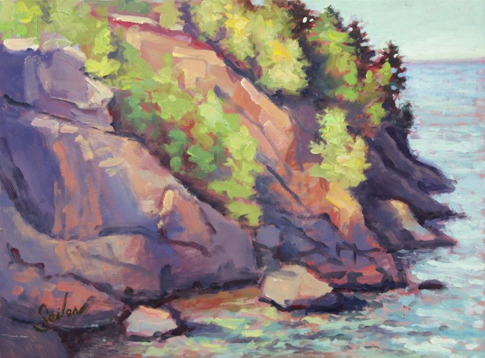 """East Presque Isle"" original fine art by Larry Seiler"