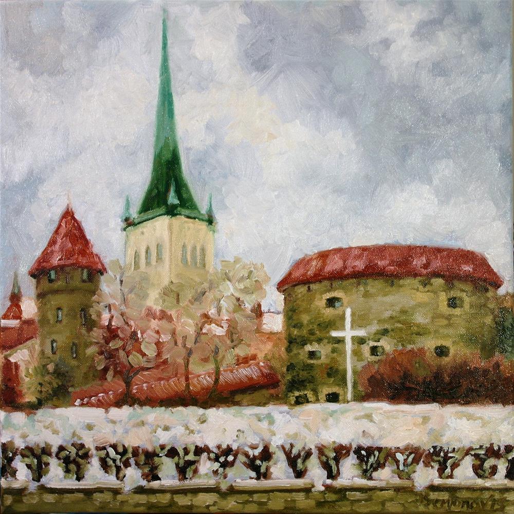"""""""old Tallinn view"""" original fine art by Yuriy Semyonov"""