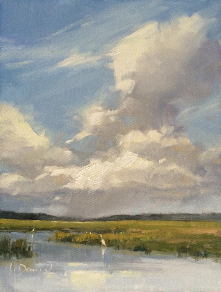 """""""Swirling Sky"""" original fine art by Laurel Daniel"""