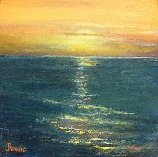"""Last Light"" original fine art by Maureen Bowie"